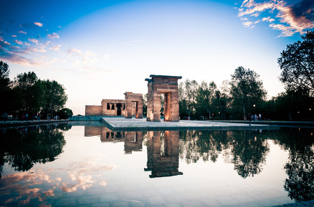 egyptian temple debod in madrid madrid spain may the temple of