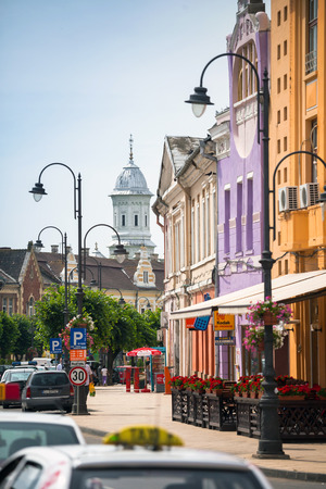 turda: Turda old city center view, Romania Editorial