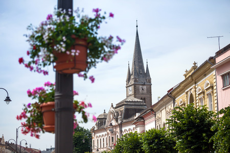 turda:  Reformed Church-Ministers tower from the Old Turda city center, Romania Stock Photo