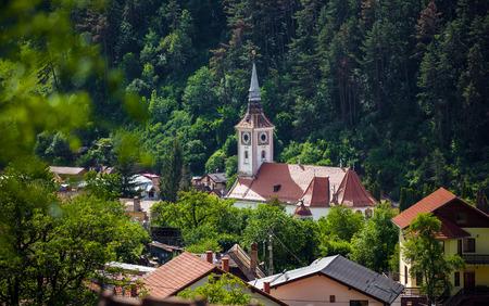 church bell: Brasov, Romania - June 9, 2013: Orthodox church bell tower from Schei, Brasov, Romania.
