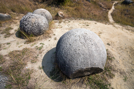 natural wonders: The Trovants of Costesti  The Living and Growing Stones of Romania Stock Photo
