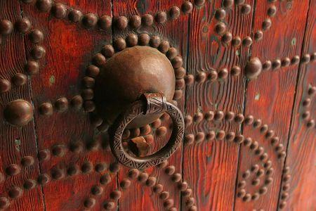 tunis: Traditional door from Cartagena, Tunis