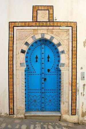 Traditional door from Cartagena, Tunis