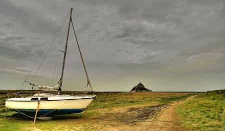 sailboat to the Mount Saint Michel