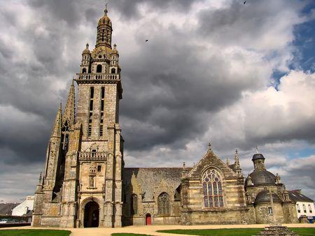 Church of Pleyben, Brittany, France, Stock Photo