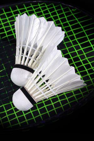 Shuttlecock and badminton  photo