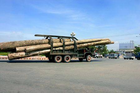 forwarder: The machine for transportation of a wood on a road