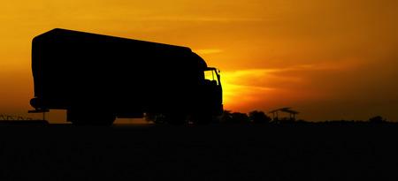 truck in silhouette photo
