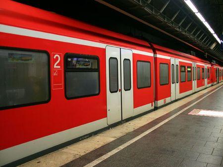 The subway train in Munich, Germany.