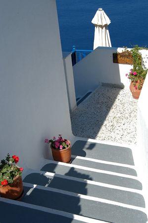 santorini greece: Hotel reception in Santorini, Greece