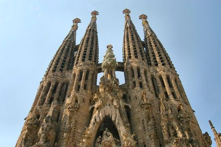 barcelona spain: Sagrada Familia church, Barcelona, Spain