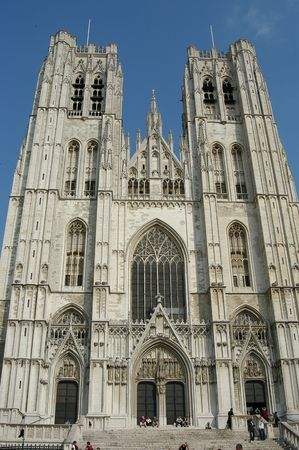michel: Saint Michel church, Brussels, Belgium Stock Photo