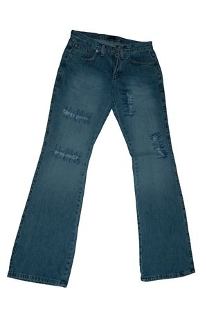 trouser: Pair of jeans Stock Photo