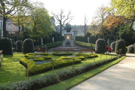 petit: Jardin du Petit Sablon, Brussels, Belgium Stock Photo