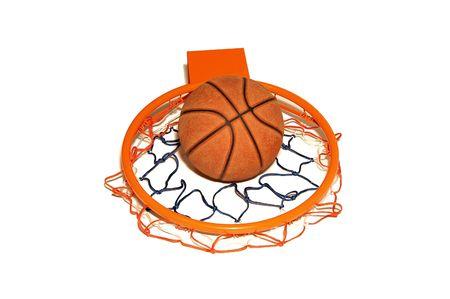 Basketball and rim photo