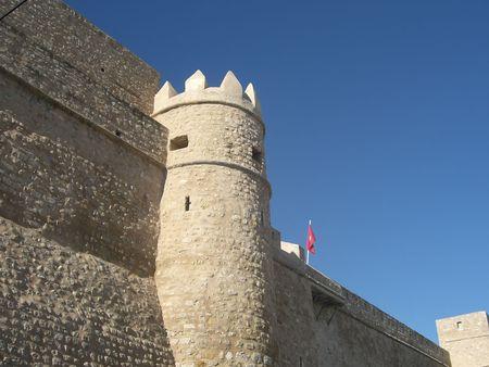 ufortyfikować: Hammamet Medina murów obronnych, Tunezja