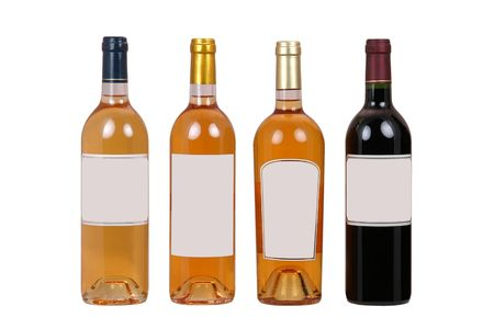 sauternes: Bottles of wine with blank label Stock Photo
