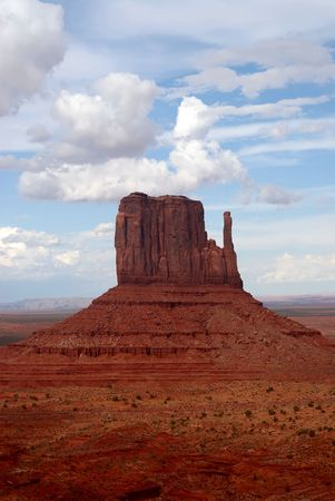 mitten: West Mitten, Monument Valley, Arizona