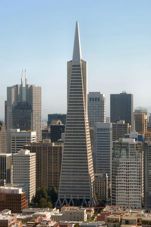 coit tower: View of San Francisco downtown from the Coit Tower