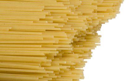 spaghetti, isolated on white photo