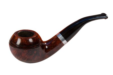 tobacco-pipe, isolated on white, clipping path included