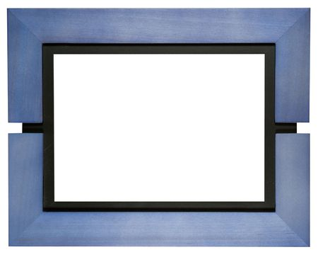 frame, isolated on white, two clipping paths included