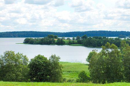 Landscape of the lake Plateliai.