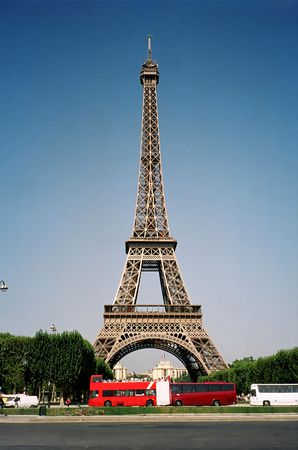 How the Eiffel Tower is built. Stock Photo