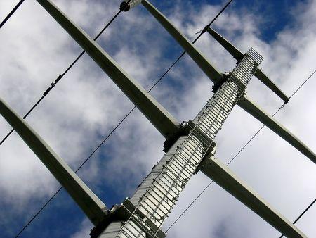 Power lines. Stock Photo