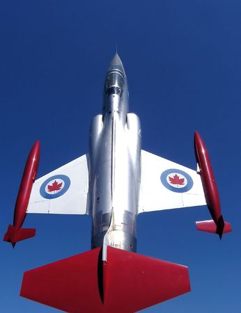 aileron: CF-104 Starfighter. Up and forward. Stock Photo