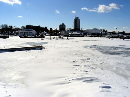 Winter around the Lake. Winter in Hamilton West Harbour (Harbor).