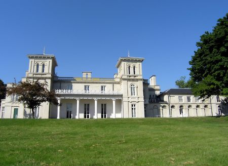 Dundurn Castle. the back frontage of dundurn castle in hamilton. the castle was completed in 1835. Stock Photo