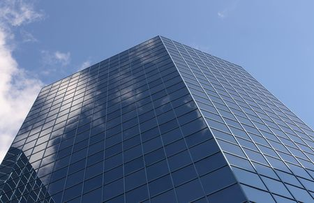 accommodate: Corporate America 04. The Office building which accommodate many companies offices. Stock Photo