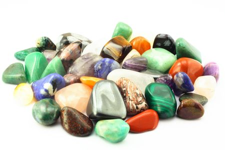 Group of different types birth stones. Stock Photo - 3067887