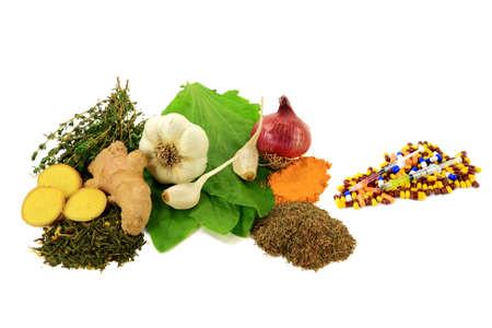 Csoportja Természetes Jogorvoslat az antibiotikum, Anti-gyulladás és fertőtlenítő hatást szemben Group of Pharmaceutical Antibiotikumok Stock fotó