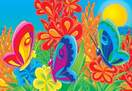 Illustration for children. A series
