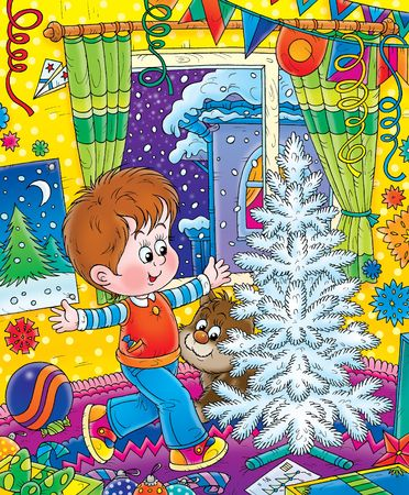 Illustration for children.  New Year. Christmas. illustration