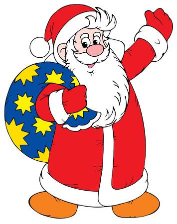 newyear: Santa Claus Vectores