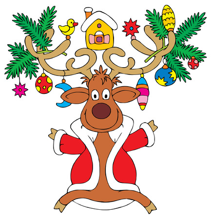 Christmas reindeer Stock Vector - 1479597