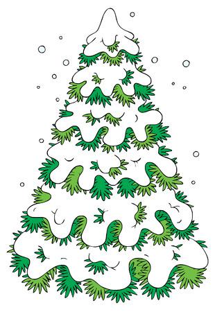 Winter fir Stock Vector - 1479599