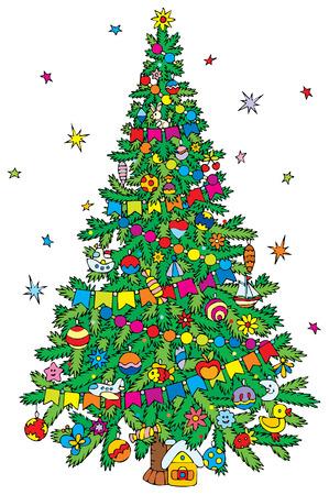 �rbol de Navidad  Vectores