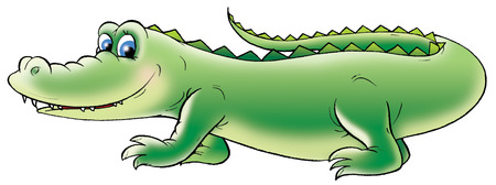kiddish: Green crocodile