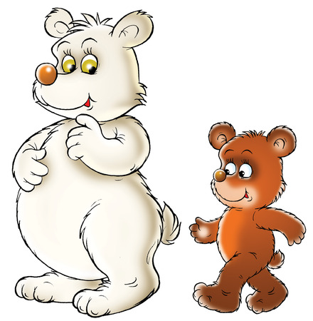 absurd: White and brown Bears