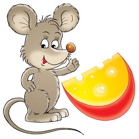 rata caricatura: Rat�n y queso