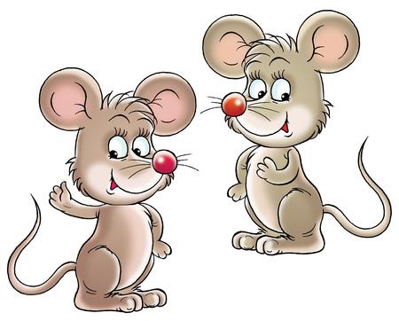 animated cartoon: mice Stock Photo