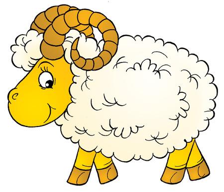 sheep clipart: ram