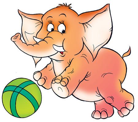 kiddish: circus elephant Stock Photo