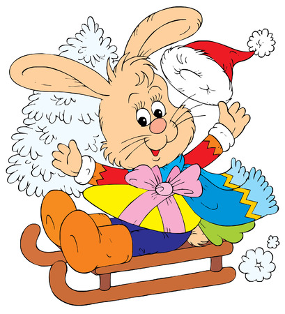 Christmas Bunny (vector) Stock Vector - 2009168