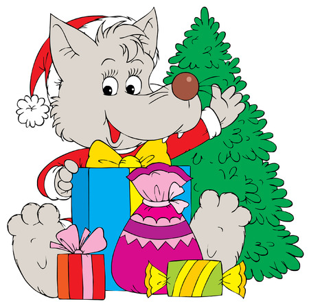 cartoon calendar: Christmas Gifts (vector)