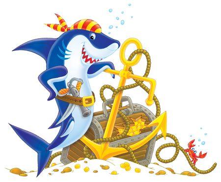 Pirate Shark Stock Photo - 2170016
